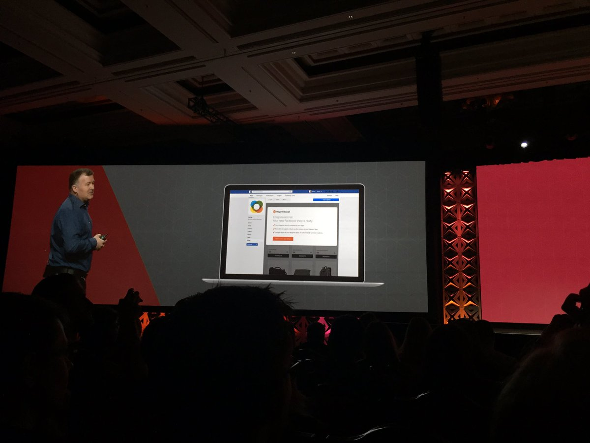 OSrecio: Annouced 'Magento Social' #MagentoImagine Connect your store w/ Facebook and much more https://t.co/83yTksqDLl
