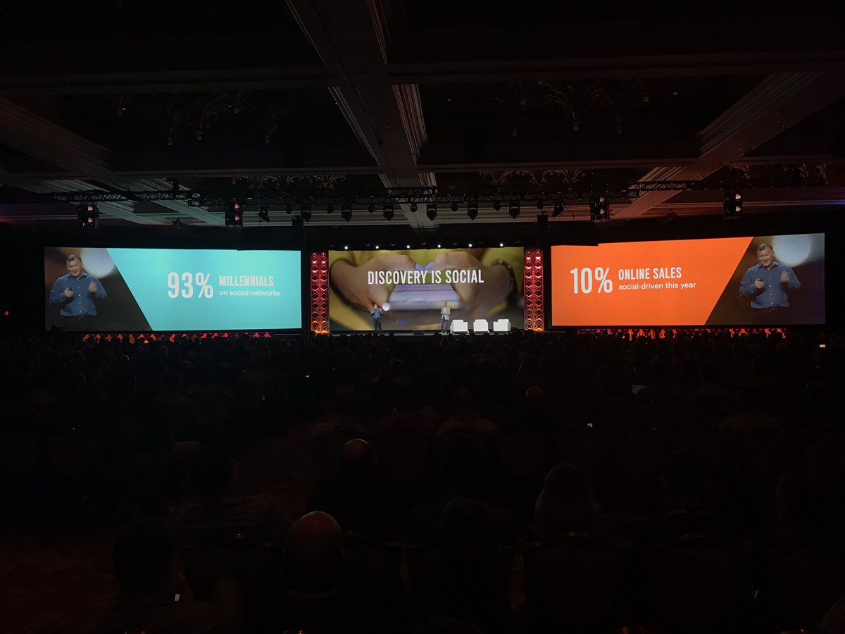 wearejh: '93% of millennials on social networks', '10% of online sales social-driven this year' @ProductPaul #MagentoImagine https://t.co/sXZb2XWjpR