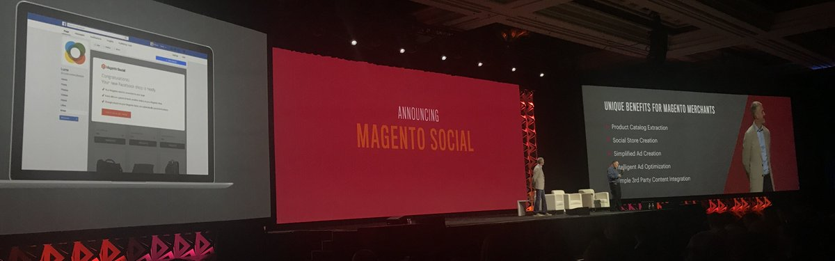 fisheyeweb: Magento Social announced - automatically connect your @magento store to Facebook! #MagentoImagine https://t.co/FWFBvIq4wn