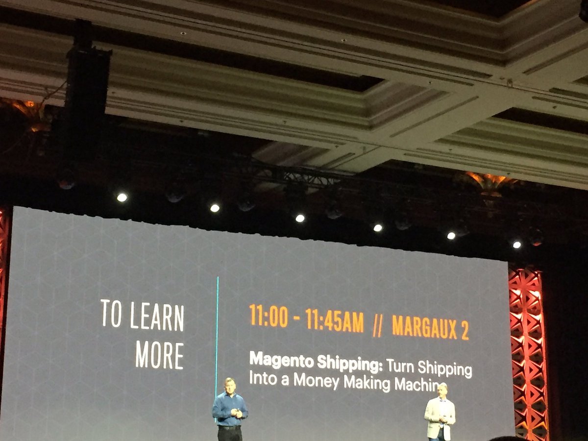 DCKAP: @magento introducing Magento shipping #Magentoimagine #imagine2017 https://t.co/O4qgEMySrH