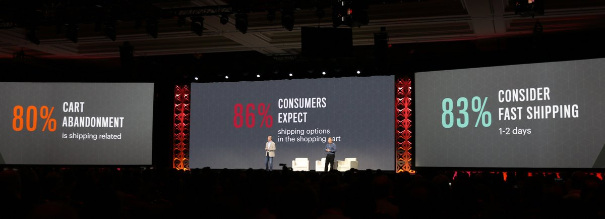 classyllama: Consumers expect a great shipping experience. Another focus for @Magento this year #MagentoImagine https://t.co/nJXSqXYiC2