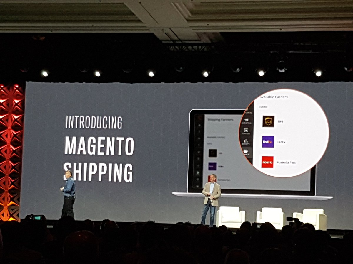 rlieser: New @magento Product: Magento Shipping announced at the #Magentoimagine by an inspiring @ProductPaul https://t.co/WsEifqr20G