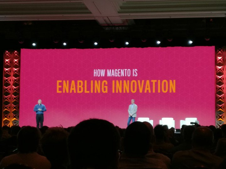 netz98: Magento Headless, progressive web apps, wearables, artificial intelligence. #MagentoImagine https://t.co/MKkp1vxJaX