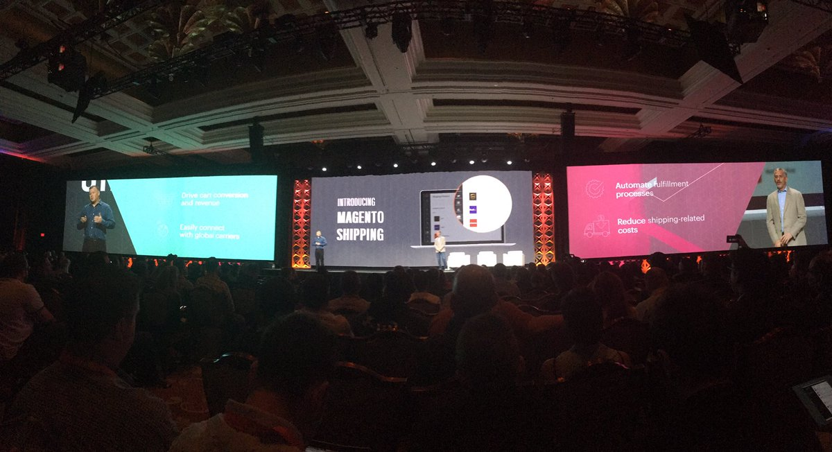 alexanderdamm: Magento Shipping is the next great product announcement #Magentoimagine #Magento https://t.co/DrI8XKwbNq