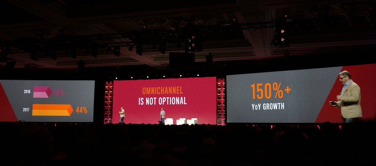 classyllama: 150% increase in merchants delivering an omnichannel experience from last year. #Magentoimagine https://t.co/3c1ugAH9sZ