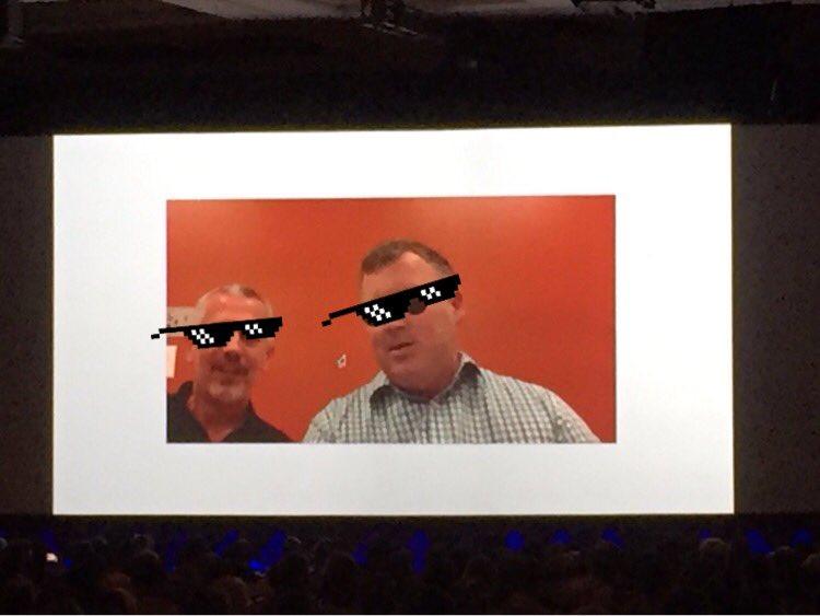vrann: Doing augmented reality like a boss @ProductPaul @jasonwoosley_mg #Magentoimagine https://t.co/wcziVQJmjK