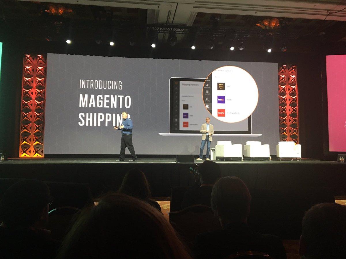 temando: Welcome to the world Magento Shipping! @magento #Magentoimagine https://t.co/XhWg0a4pQw