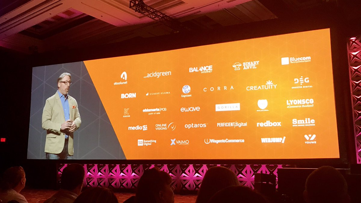 ericerway: @msonier21 talking about our great solution partners for Magento Commerce Order Management. #MagentoImagine https://t.co/Hiv9SqPSu4