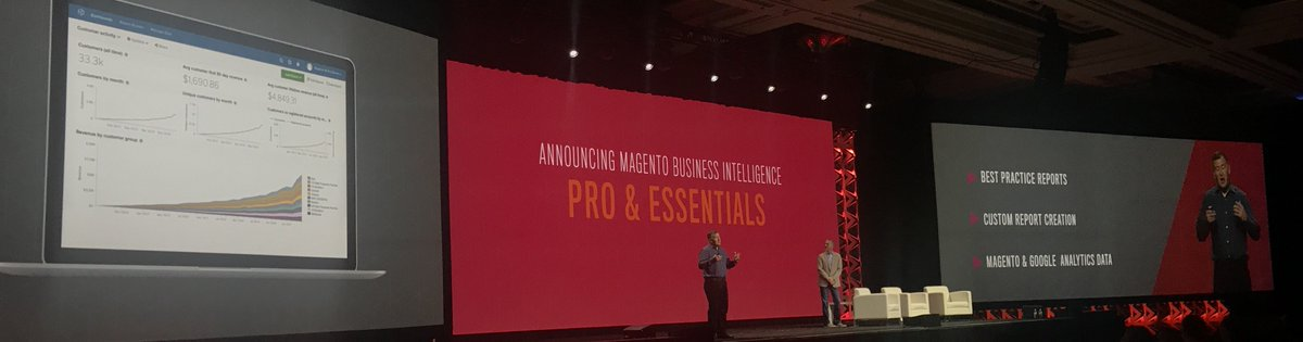 fisheyeweb: Magento Business Intelligence now has pro and essentials tiers #MagentoImagine https://t.co/U2P7Euls25