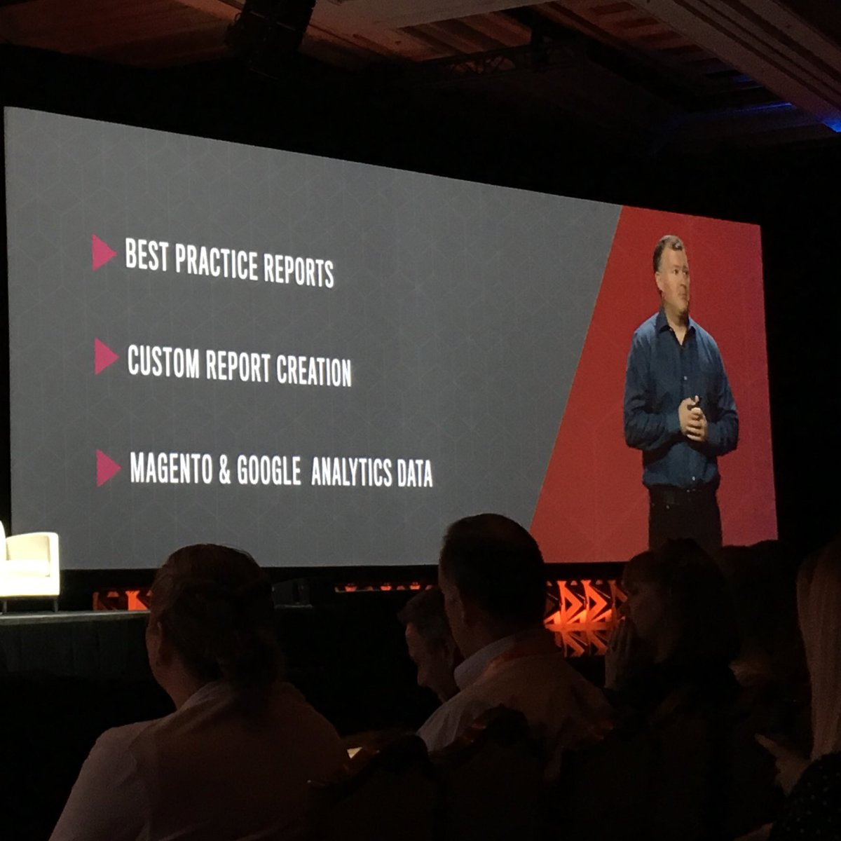 sonjarierr: Looking forward to seeing business intelligence inside Magento #Magentoimagine nhttps://t.co/NPiYdUSDEa https://t.co/Bc7QLGNohf