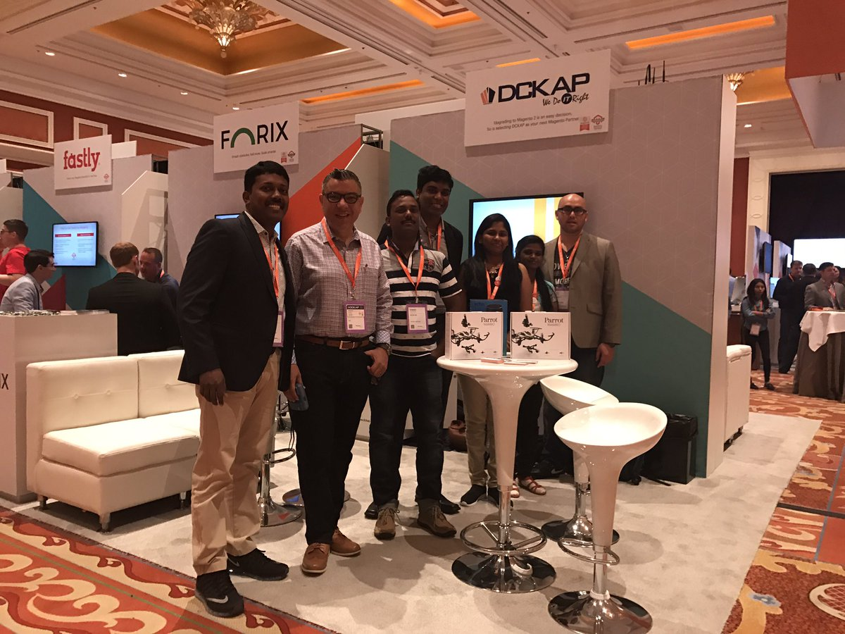 DCKAP: Stop by @DCKAP booth 313 and meet the Team. Win an Echo/Parrot Drone. #Magentoimagine https://t.co/lW9Vyli0ic