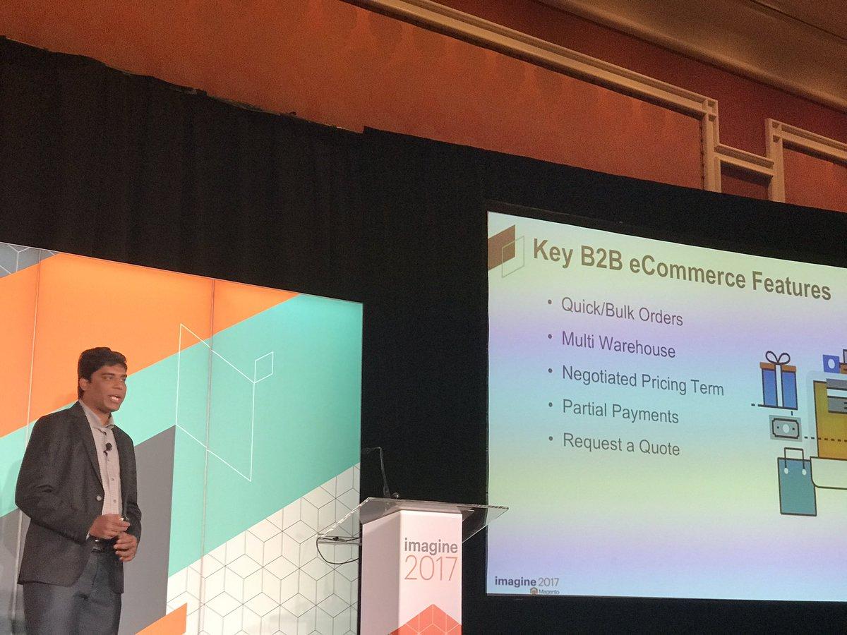 DCKAP: Key B2B Features. Session in progress by Mohan Natarajan #Magentoimagine https://t.co/FDmBVI1zXQ