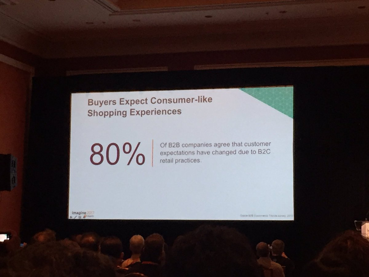 wearejh: 80% of B2B buyers expect consumer like shopping experience... #Magentoimagine showing all these new features https://t.co/1fMEaQl6Go