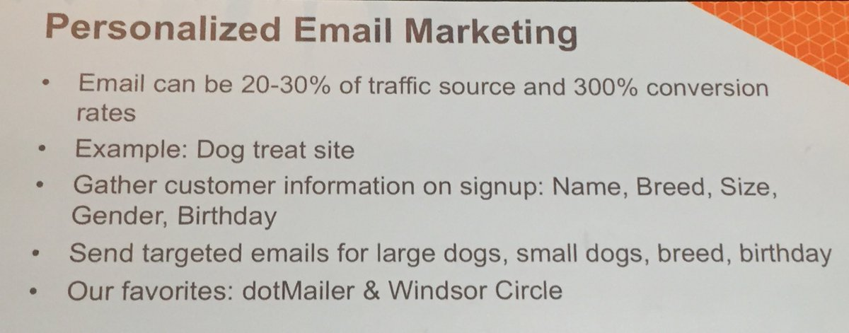 annhud: Great example if personalizing email marketing to increase conversion  #MagentoImagine https://t.co/HZYAghGHqE