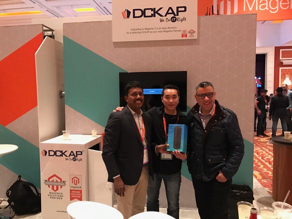 DCKAP: John Huang is the winner of Day 3 Amazon Echo. @DCKAP #Magentoimagine https://t.co/3LgsIFmPVL
