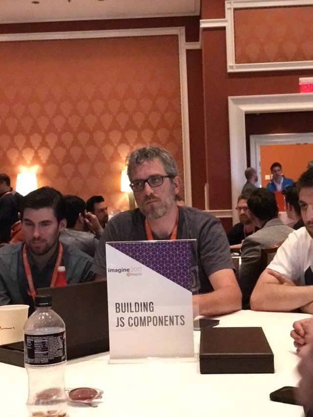 _Talesh: Am I the only one that reads this as 'Building Jisse Components'? #MagentoImagine https://t.co/018rGYBrPV