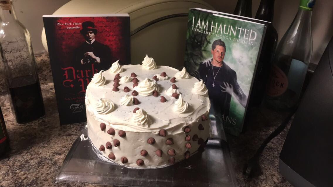 happy birthday zak! we baked you a cake and made the inside black like your soul!