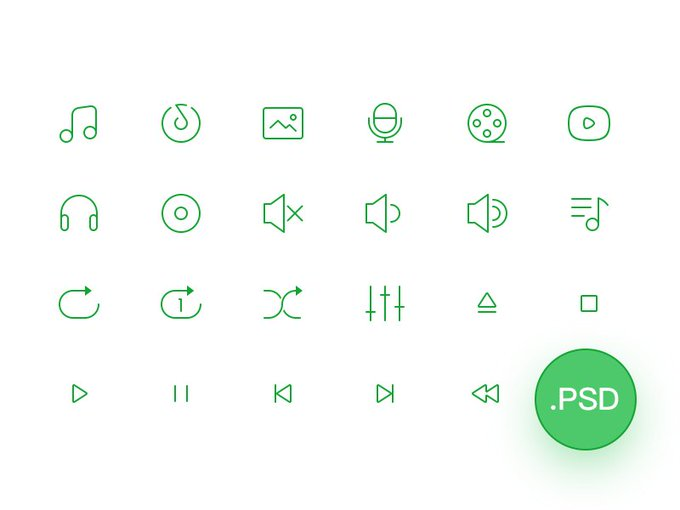 Free 2px Line Icons   Icons by Jimmy Cheung freebie via GenioDronof