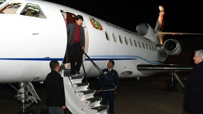 Presidente Evo Morales retornó a Bolivia tras recuperación de cirugía en Cuba