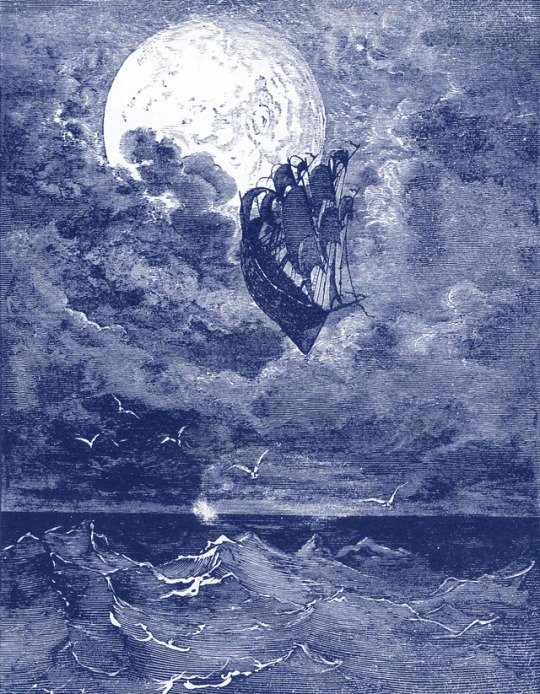 Gustave Doré, A Voyage to the Moon, 1868(blue edit)