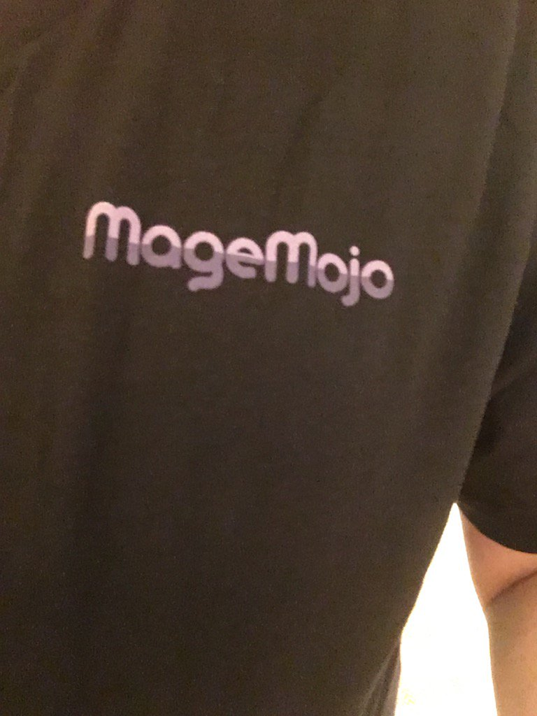 logosmith: When you go out with some  people in Vegas and you wake up wearing this @magemojo t-shirt... #roadfromimagine https://t.co/IxVI68oLHO