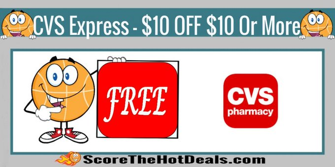 *WOAH* Possible $10 OFF $10 - At CVS!free freebies freebie freemoney cvsdeals