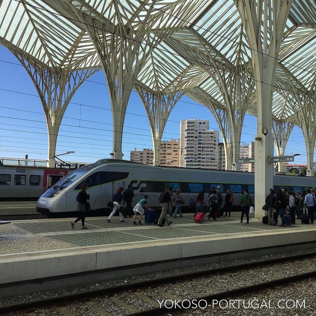 test ツイッターメディア - ポルトガルを縦断する新型アルファ・ペンドゥラール。ヨーロッパではホームのどの位置に電車が止まるかわからないので、到着と同時に乗車する人は走り出します。#ポルトガル https://t.co/b0in0z7zbO