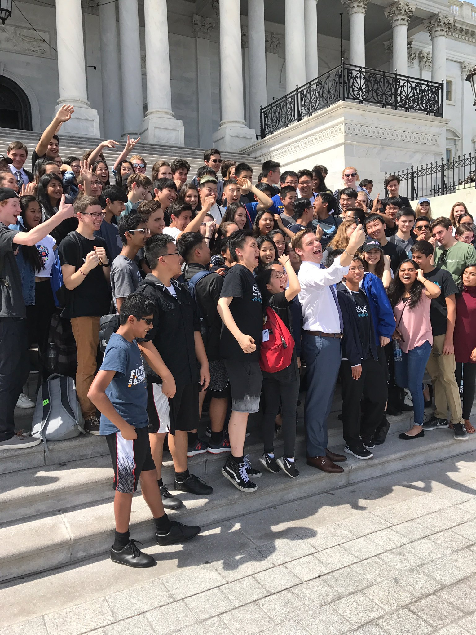 Best part of my week? Hanging with the @foothillfalcons on @uscapitol steps! They were kind to this @DHSGaels alum! https://t.co/xTgiMxy2P1