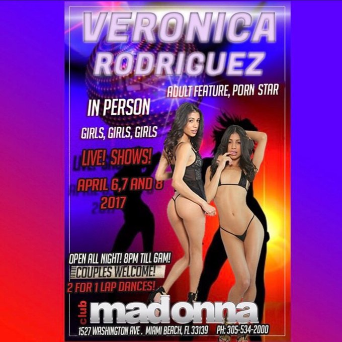 1 pic. Just got to club Madonna in South beach and I'm getting ready to go on stage at 12 am and 2am