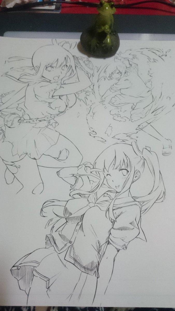 絵を描いたり、模写したり、集中してる自分に気付くと、あー、私絵を描くのが好きなんだなって思う(^^)今回は武田先生のマケ
