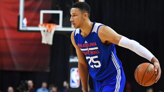 REPORT: Ben Simmons has grown around 2 inches since draft day, just under 7 feet tall now. �� https://t.co/n6NQ2CTZhU