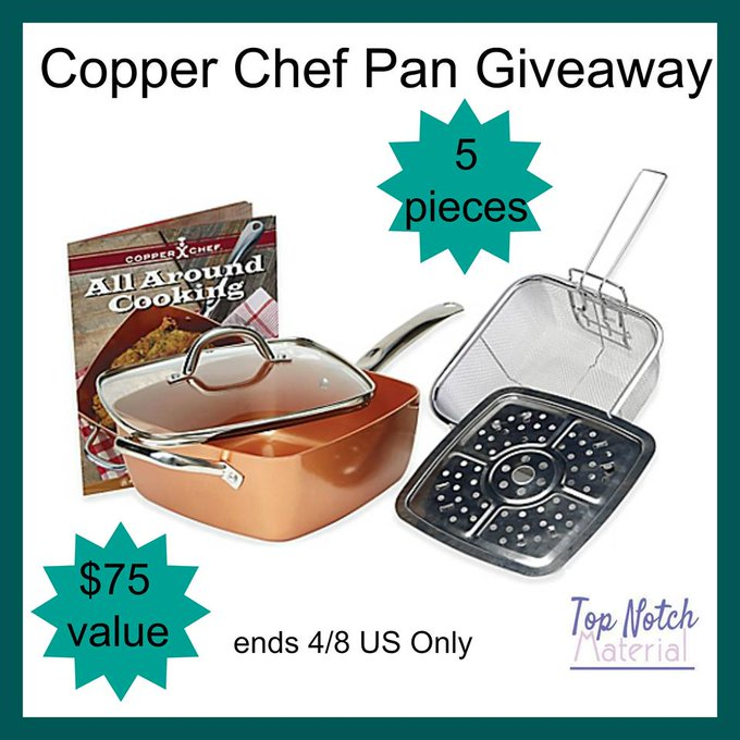 5pc Copper Chef Pan GA-1-US-Ends 4/8