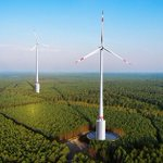 Huge wind turbines are to combine with hydropower in a German forest