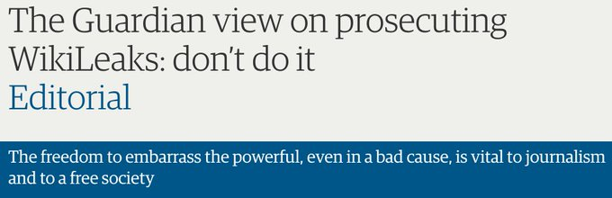 Guardian editorial this evening.