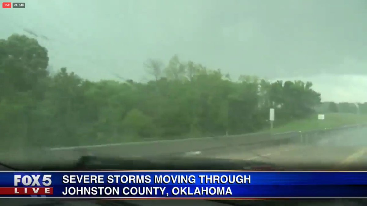 LIVE: Severe storms moving through Oklahoma at this hour. WATCH: https://t.co/3q0H7Rp0Tx