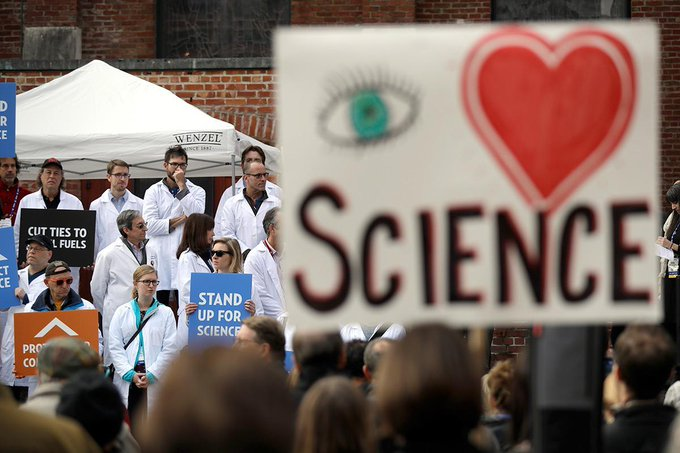 Science stood apart from politics for a long time, not any more #MarchForScience https://t.co/aV7nem1HuW