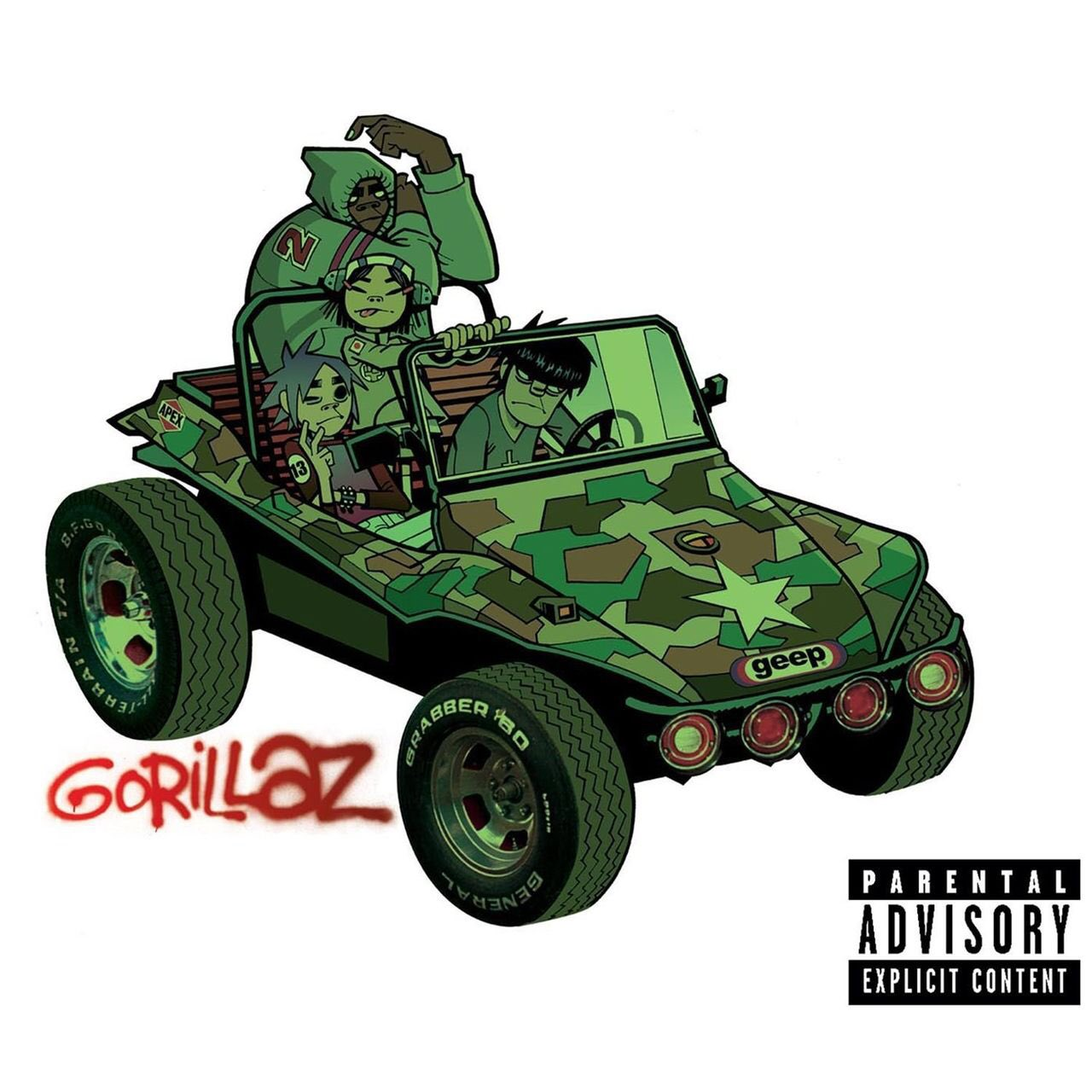 Gorillaz - s/t -Sound Check (Gravity) -Rock the House -M1 A1 (this was also my first CD when I was like 11-12) https://t.co/Bm1yEV1GXC