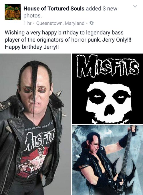 A VERY HAPPY BIRTHDAY TO ONE THE ORIGINATORS OF HORROR PUNK, JERRY ONLY!!!!