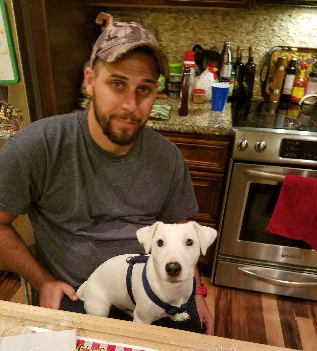 I love my boys #JimmyTheJack @gimpyfarmer #dogsoftwitter