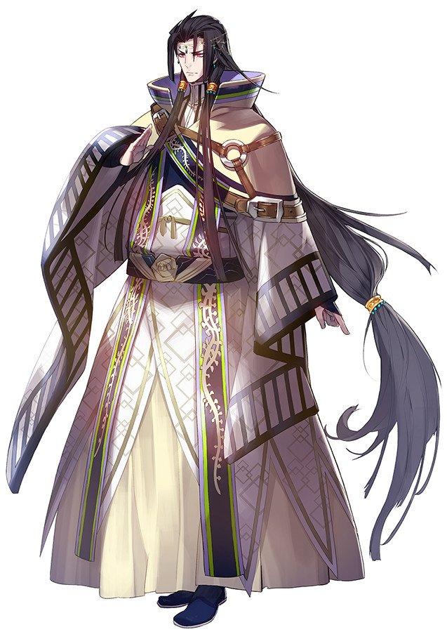 丹衡(CV.平川大輔)。三杜シノヴがデザインを担当。「丹翡と兄妹ということで、衣装などはセットでアレンジしました。闇属性