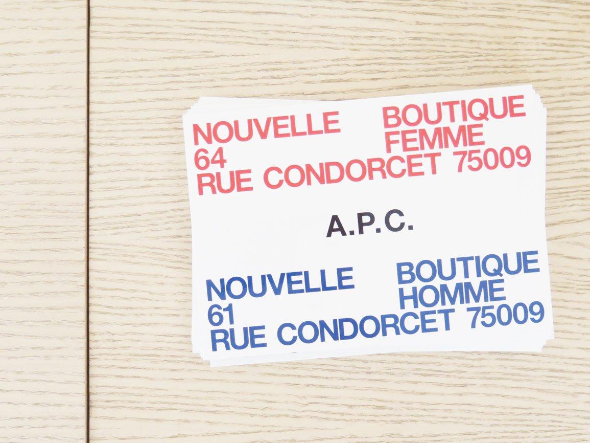 #APC パリ コンドルセ通り店 61 et 64 rue Condorcet, 75009 Paris. https://t.co/Nr7LVrG8Xh