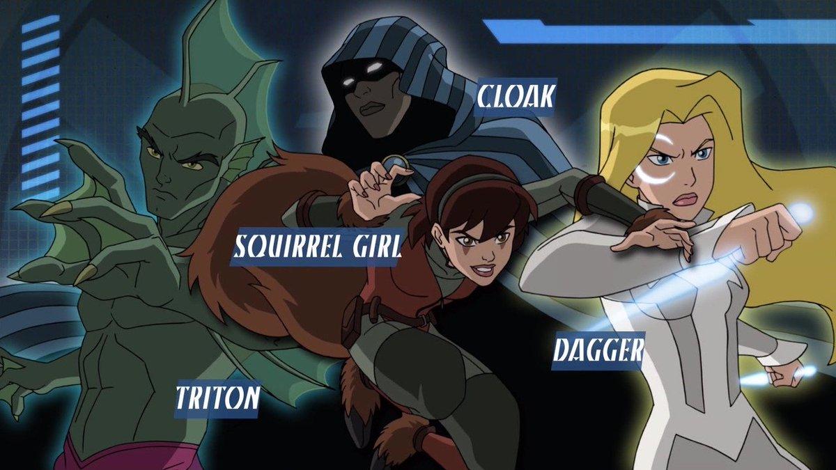 アルティメットスパイダーマンに出ててきた程度しか知らないけどクローク&ダガー好き#CloakandDagger
