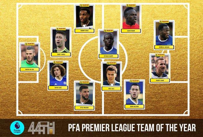 OFFICIEL ! L'équipe de la saison en Premier League !