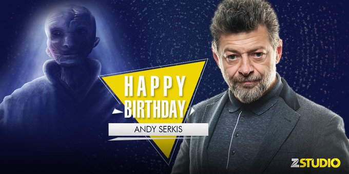 Here s wishing Andy Serkis a.k.a the supreme leader Snoke a very happy birthday! Send in your wishes!