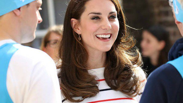 Kate Middleton has a big heart and a big wardrobe: This stripped look was made for royalty.