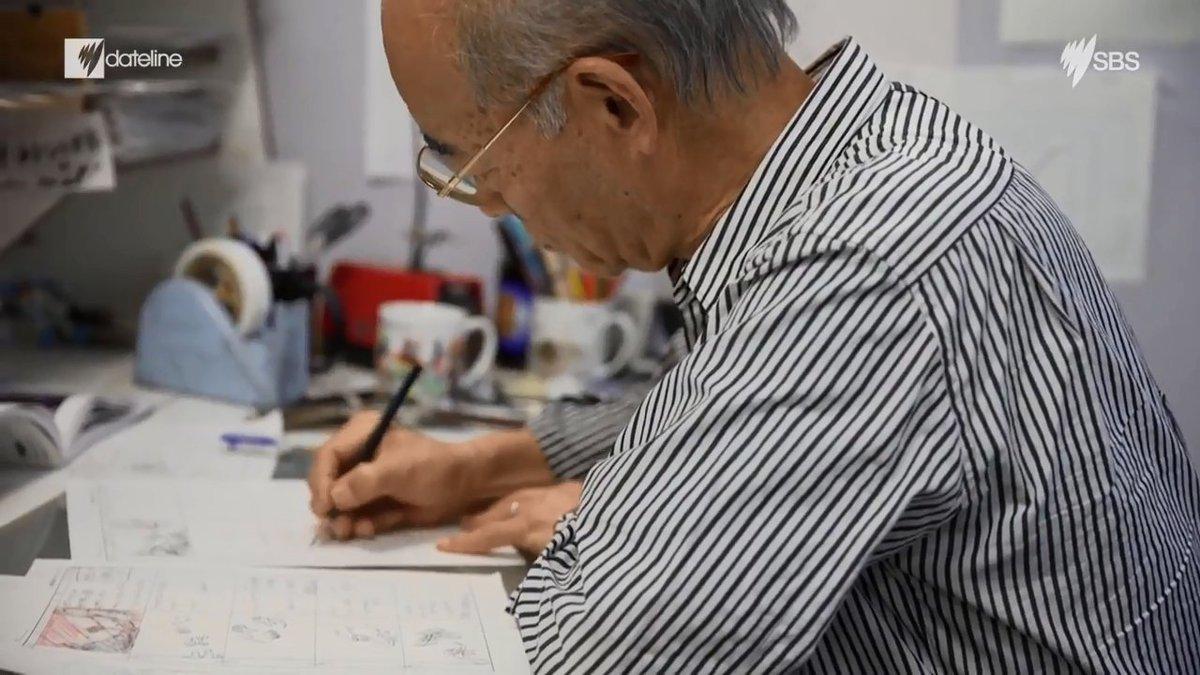 富野監督海外取材映像Gレコ劇場版コンテらしきシーン。#gレコ