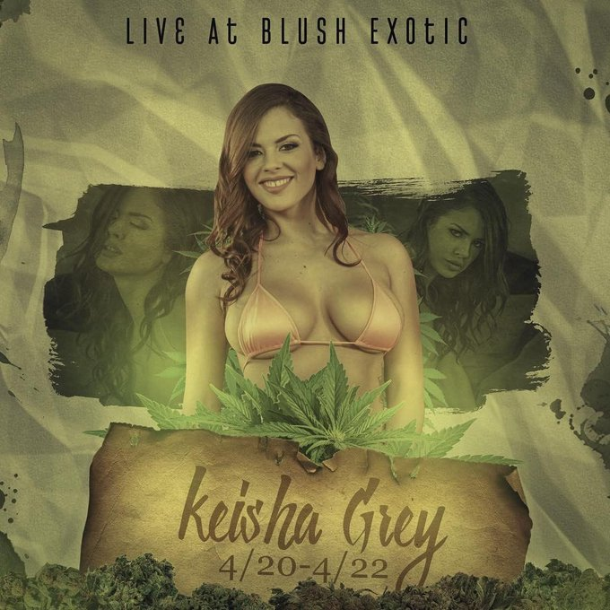 Happyyyyyy 420! I'll be at @BlushExotic tonight and I hope to see you there 😽🍃 https://t.co/MGVfXZpW