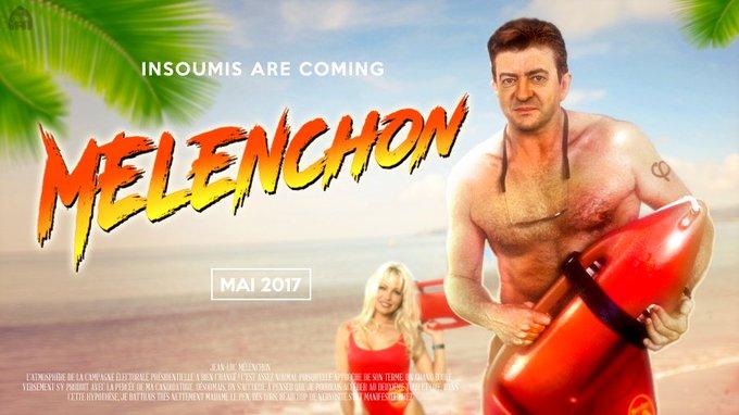 'Pamela Anderson appelle à voter #Mélenchon'