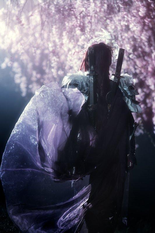 【コスプレThunderbolt Fantasy 東離劍遊紀】殺無生:繭、撮影:桂さん 夜桜その2
