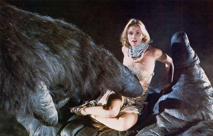 Happy birthday to Jessica Lange. Photo from King Kong, 1976.